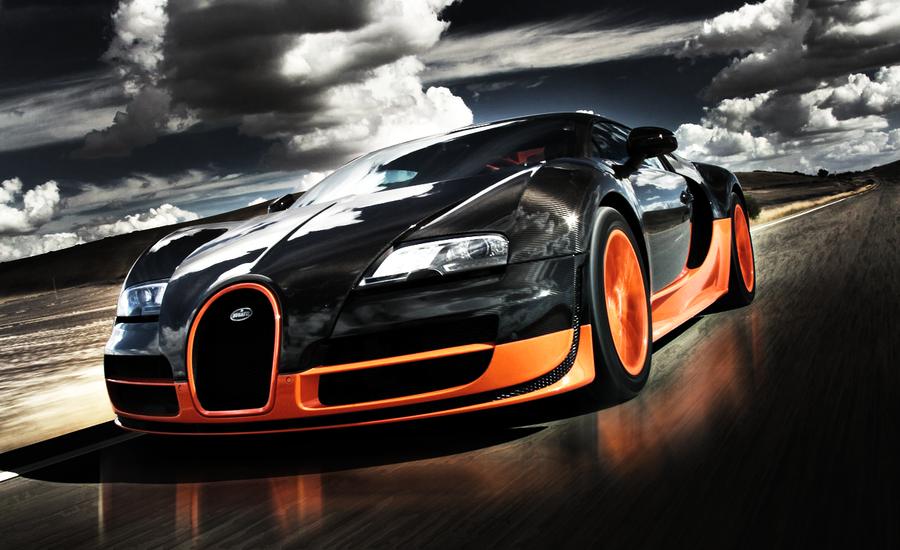 Bugatti Veyron Super Sport cuesta 1,6 millones de euros. Este coche es uno de los más rápidos de mundo