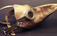 Máscaras de la peste negra con forma de pico